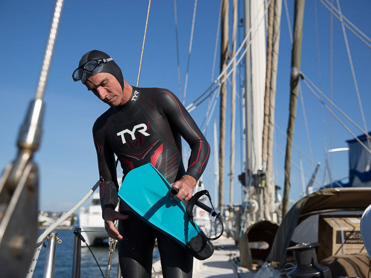 To Raise Awareness For Climate Change, 50-Year-Old Makes Bid To Swim Across Pacific