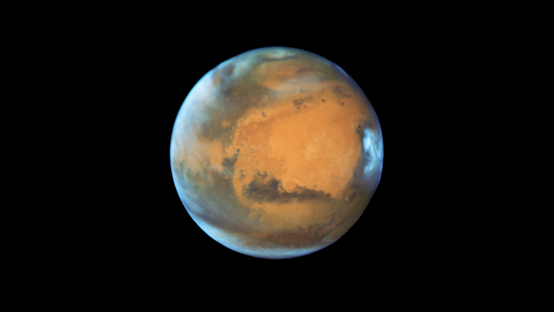 The best possible view of Mars from Earth, captured by NASA's Hubble Space Telescope.  NASA/ESA/Hubble Heritage Team/STScI/AURA