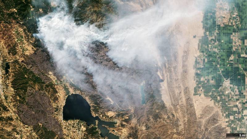 California Wildfires: The View From Space