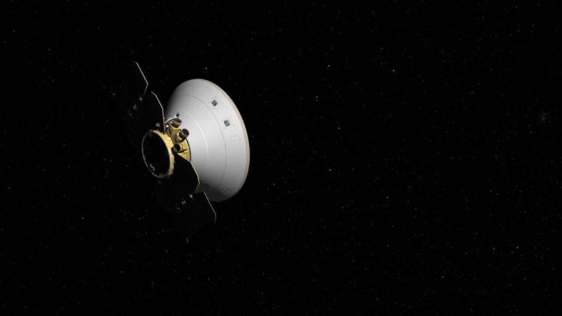 Artist illustration of the InSIGHT spacecraft en route to Mars. InSIGHT will land in November on a mission to probe Mars' deep interior.