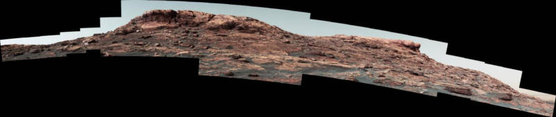 Vera Rubin Ridge, as seen by Curiosity as it climbed toward it up the slopes of Mount Sharp.