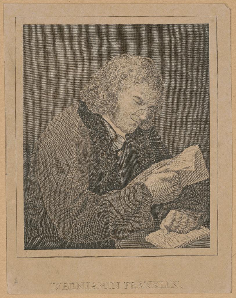 An image of Benjamin Franklin.