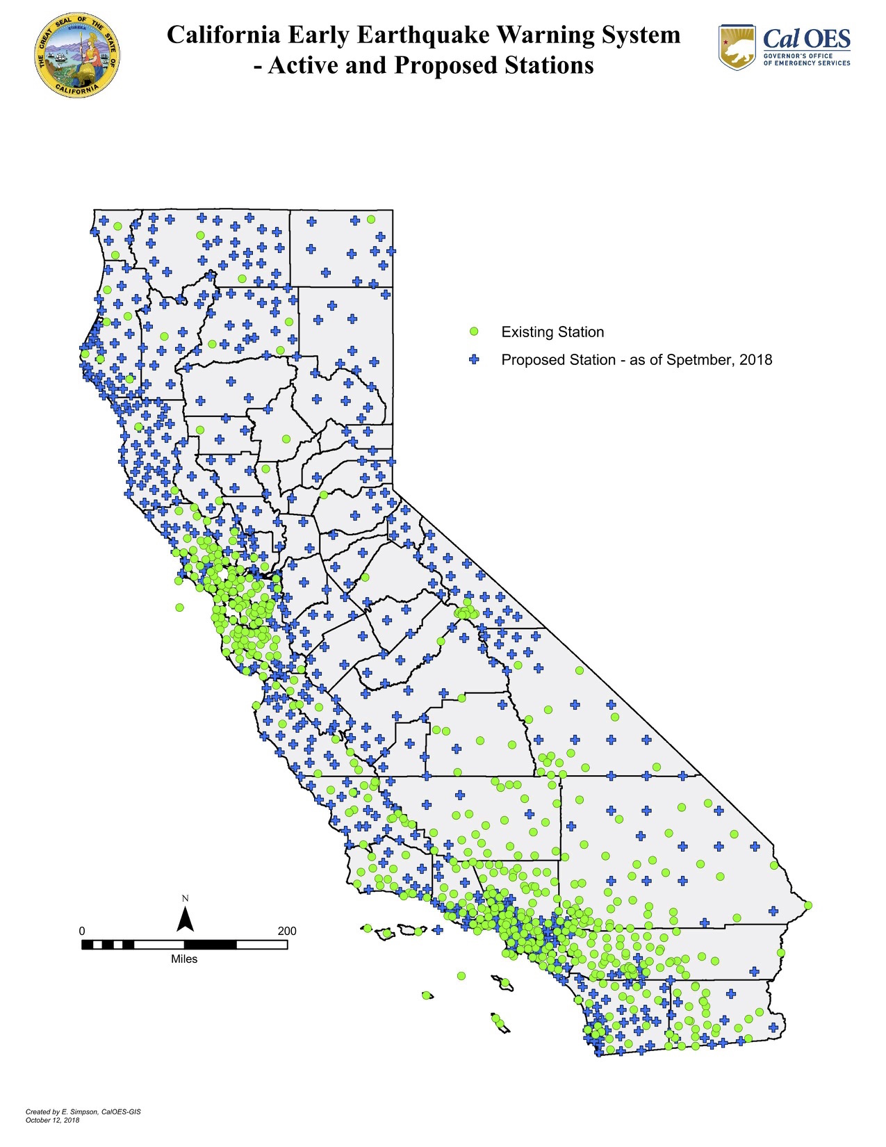 Map: California's seismic sensor network