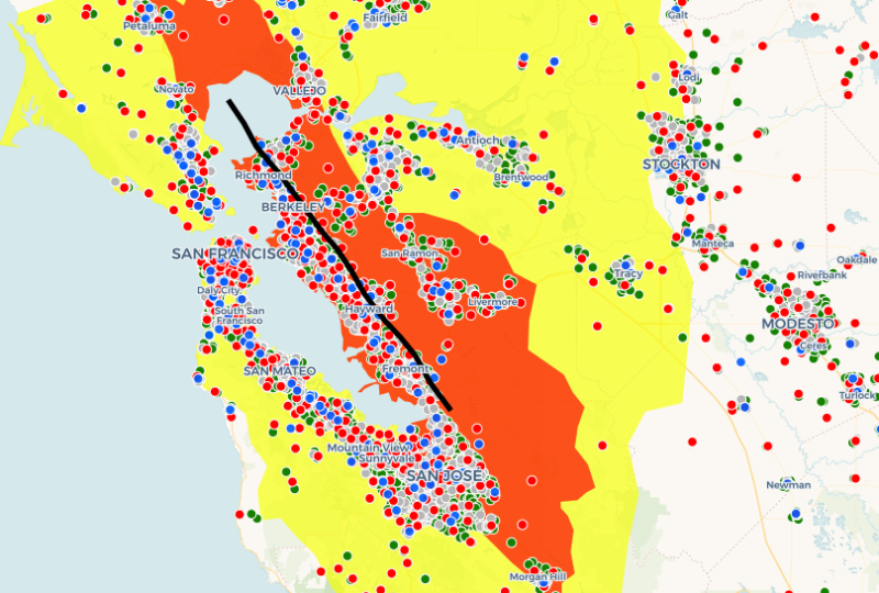 Are You in the Severe Damage Zone for the Bay Area's Next Big Earthquake?