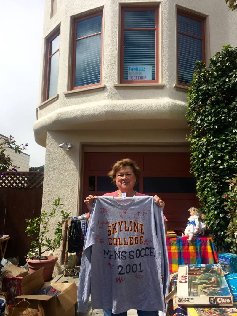 Fran Link was holding a garage sale one recent day when Daniel Homsey drove by, looking for emergency supplies. Homsey helps San Francisco neighborhoods organize to be resilient in disasters such as heat waves.