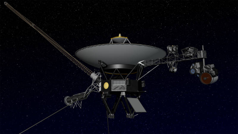 Artist concept of the Voyager spacecraft.