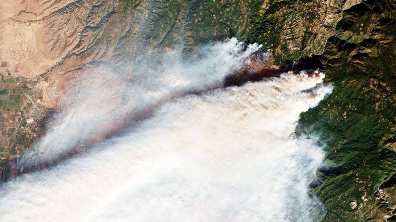 See the Camp Fire Smoke From Space