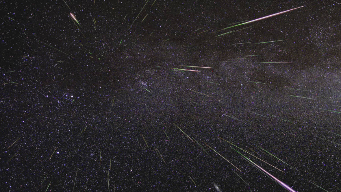 Time-lapse image of Geminids meteors. NASA