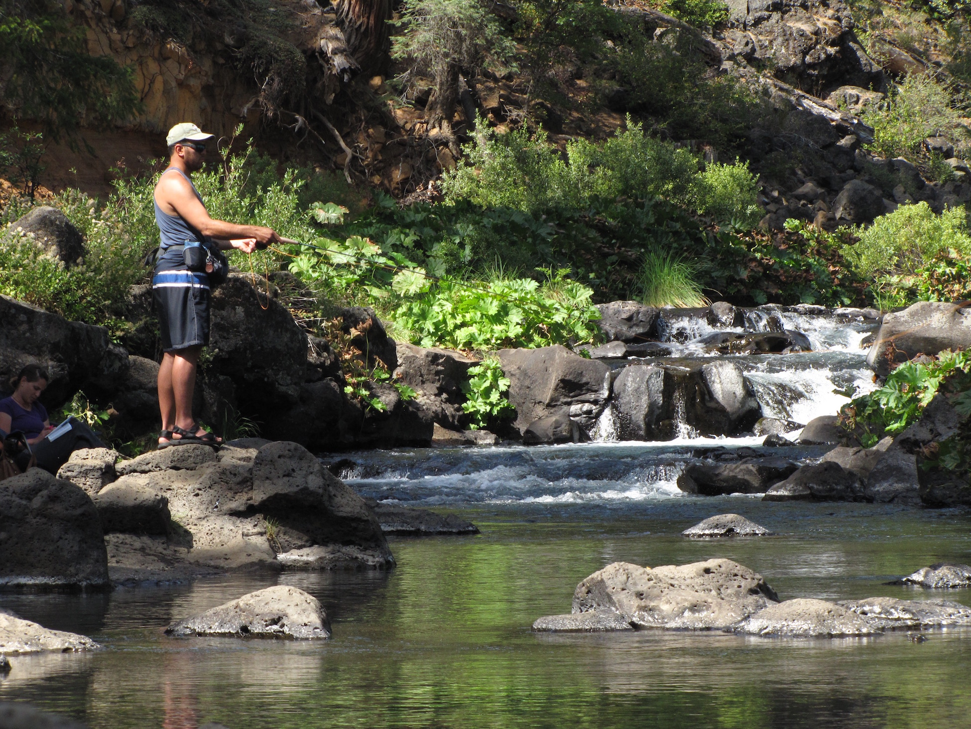 Photo: fishing on the McCloud River