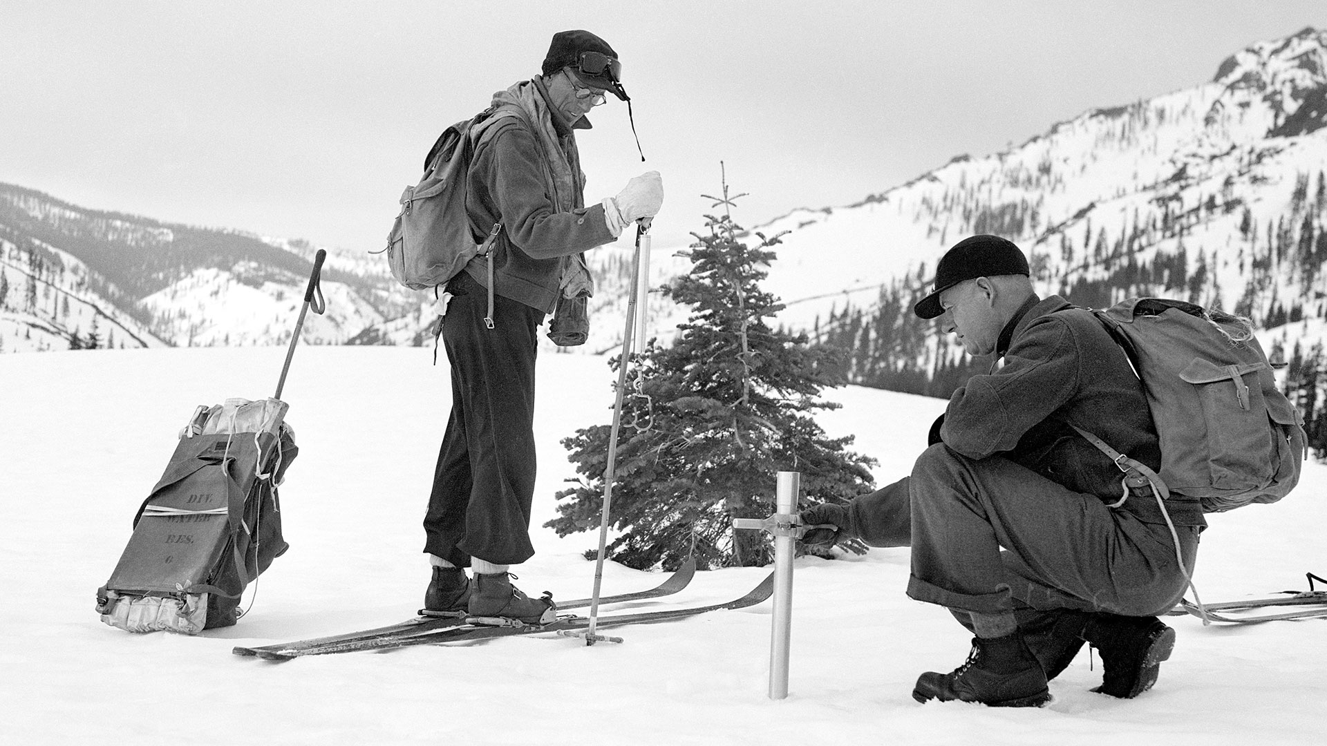 Photo: 1958 snow survey