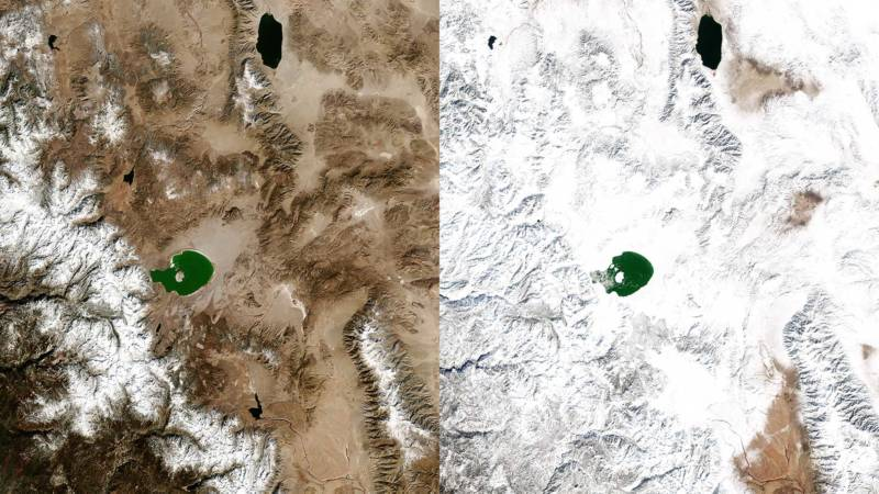 Before and After: See California's Monster Snow Year by Satellite