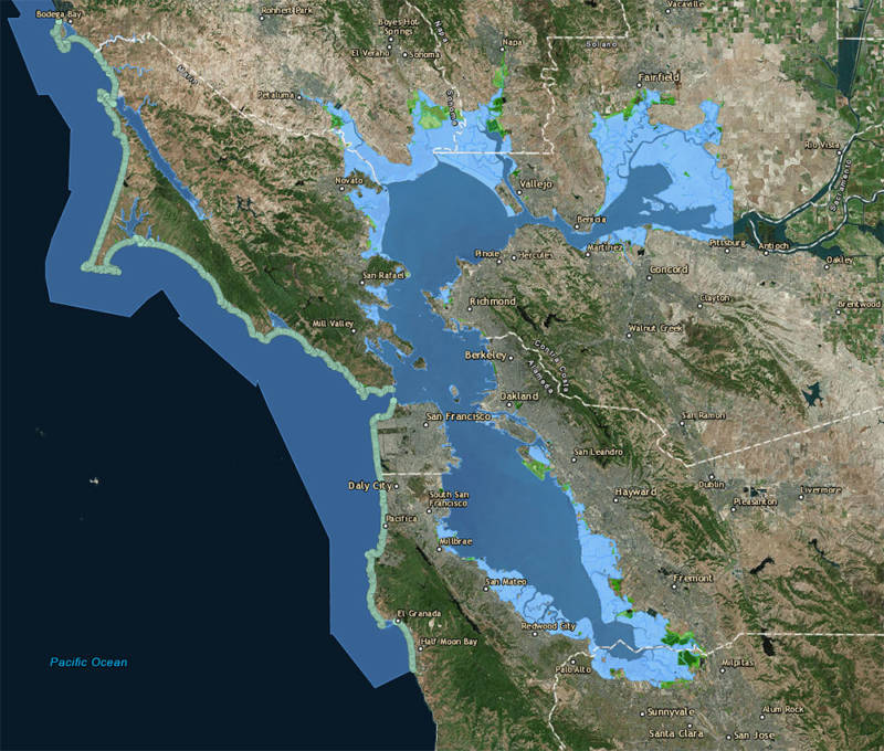 Sea Level Rise in Bay Area is Going to Be Much More ... on alameda county, san francisco bay, marin county, pittsburg california map, oakland california map, santa rosa, san jose, northern california, mountain view california map, san diego earthquake fault zone map, fairfield california map, richmond california map, santa rosa mountain trail map, southern california, southern california map, santa cruz california map, orange county, san francisco, east bay, fresno california map, santa clara, east bay california map, central coast california map, santa rosa california map, peninsula california map, california california map, san jose california map, northern california map, silicon valley, santa clara county, palo alto, golden gate bridge, south bay california map, san mateo county, sonoma county, los angeles california map, santa clara california map,
