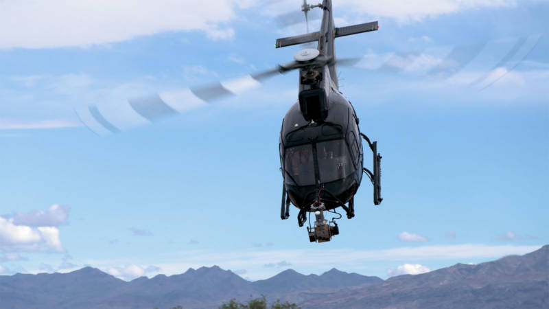 NASA testing the Mars 2020 mission's Landing Vision System on the nose of an Airbus helicopter in Death Valley National Park.