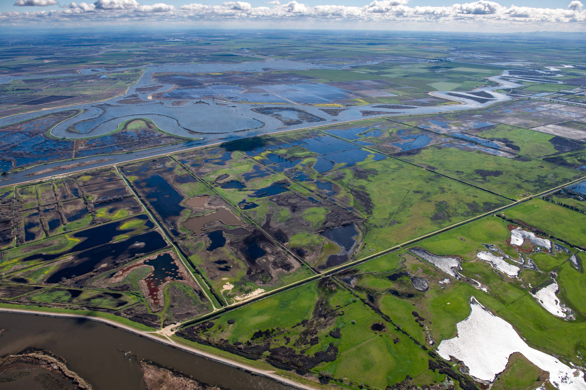 The Sacramento-San Joaquin Delta provides drinking water for two-thirds of Californians and three million acres of farmland.  Ken James / California Department of Water Resources