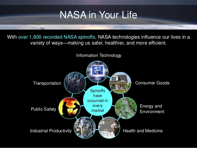 NASA spinoff technologies have found their way into all major commercial sectors.