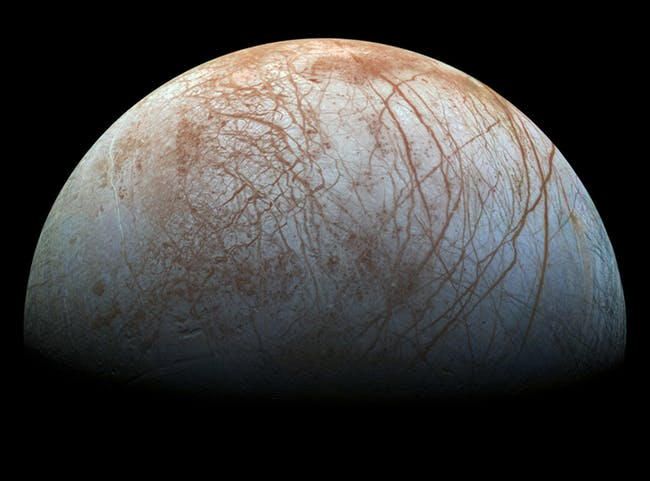 The pattern of cracks in the icy crust of Jupiter's moon Europa was the first clue to the deep ocean it hides beneath.