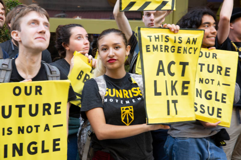 Young Activists Rally at DNC Meeting to Urge Debate on Climate Crisis