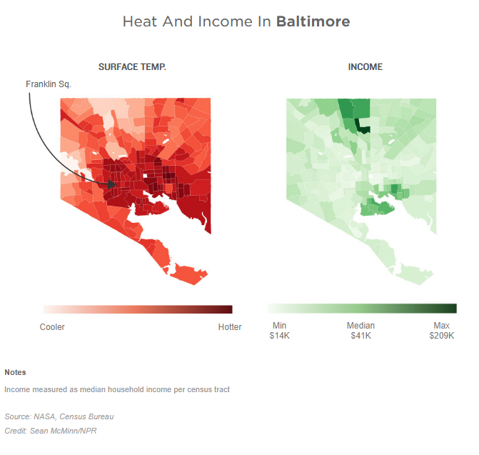 As Rising Heat Bakes U S  Cities, The Poor Often Feel It