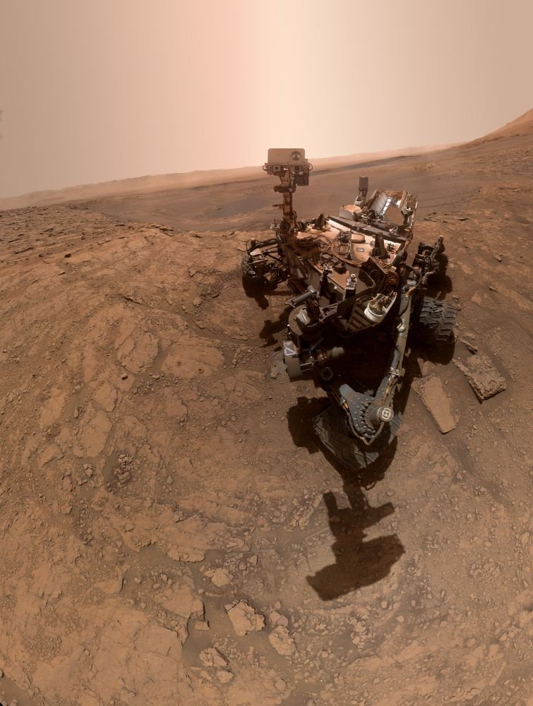 "A ""selfie"" taken by NASA's Curiosity rover on Oct 11, 2019 at a place nicknamed Glen Etive."