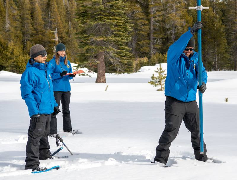 California Snowpack Starts Off the Year at Nearly Normal
