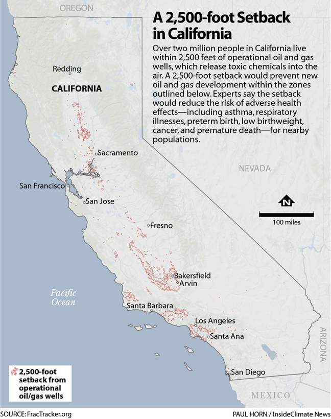 Map: CA Fracking Areas