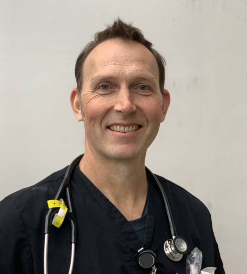 After working many consecutive months both as an ER nurse in Oakland Douglas Frey is emotionally and physically exhausted.