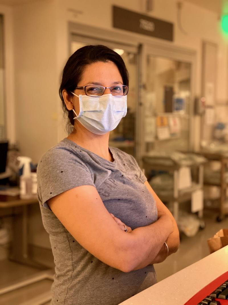 Dr. Dinora Chinchilla is finally taking a month after seven consecutive months treating patients in an ICU in Los Angeles county.