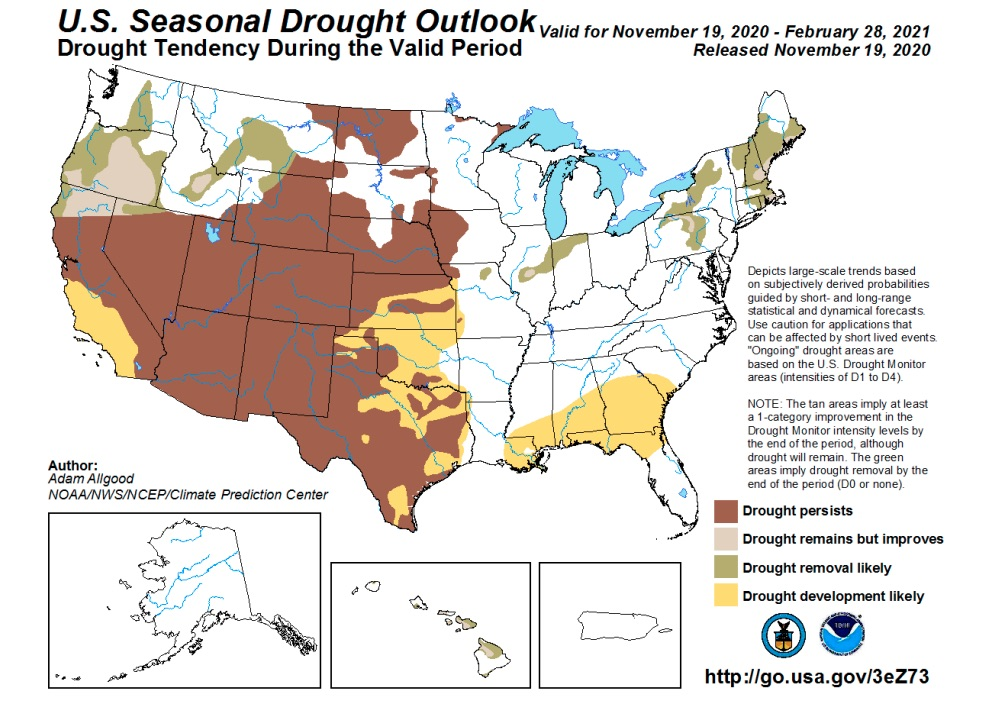 Map: US Drought Outlook