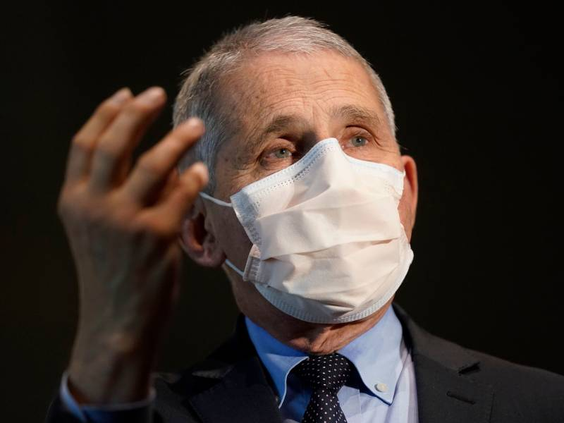 A photo of Dr. Anthony Fauci