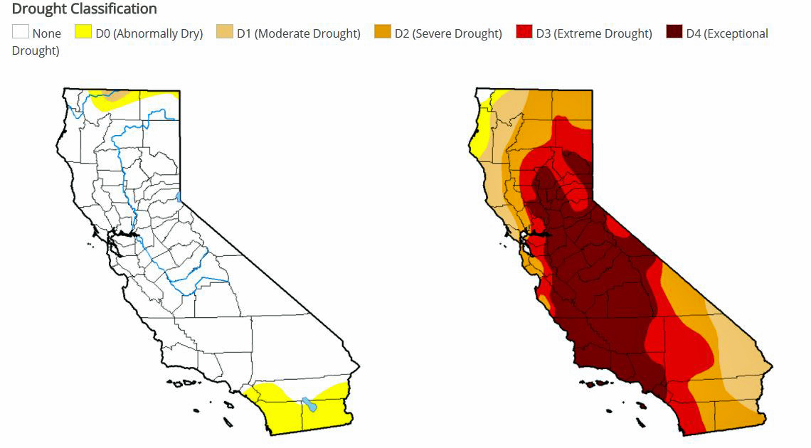All of California Is Now Out of Drought, According to U S  Drought