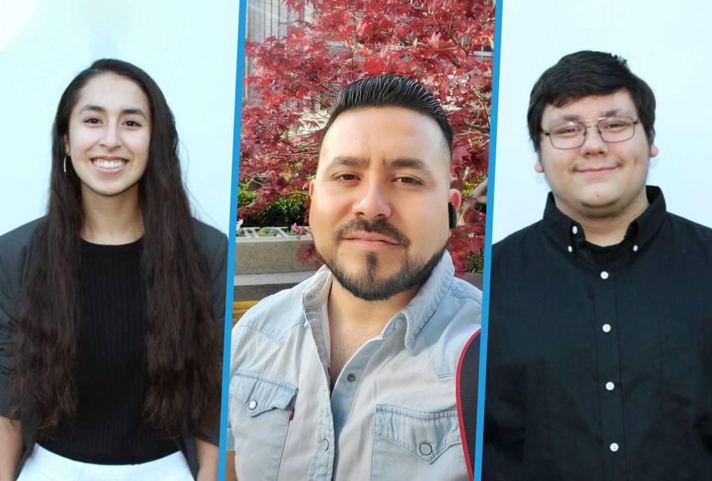East Palo Alto residents Cristina Becerra, Ulises Barbosa, and Filiberto Zaragoza (L-R).