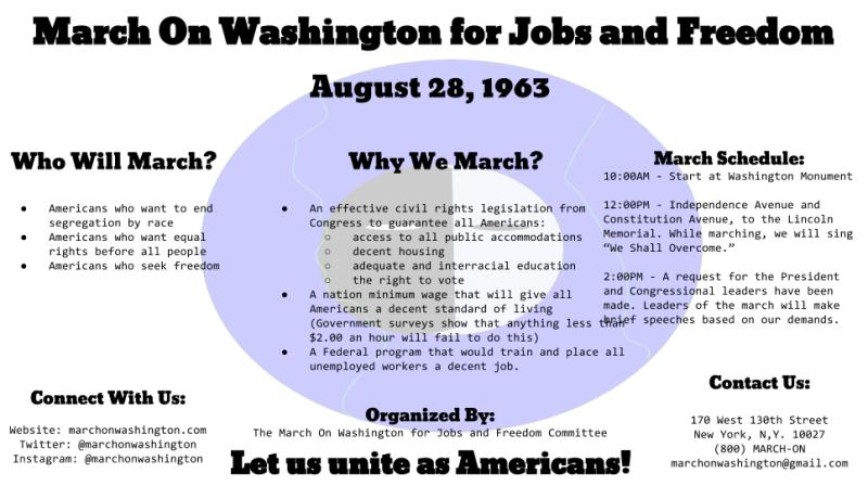 March on Washington Digital Flyer