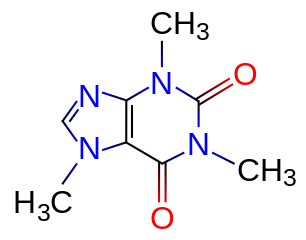 The chemical structure of caffeine
