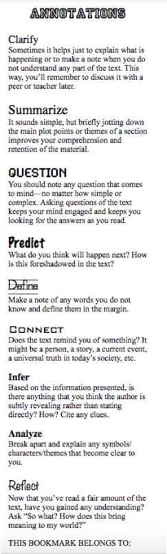 A helpful annotation rubric
