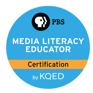 PBS Media Literacy Educator Certification badge