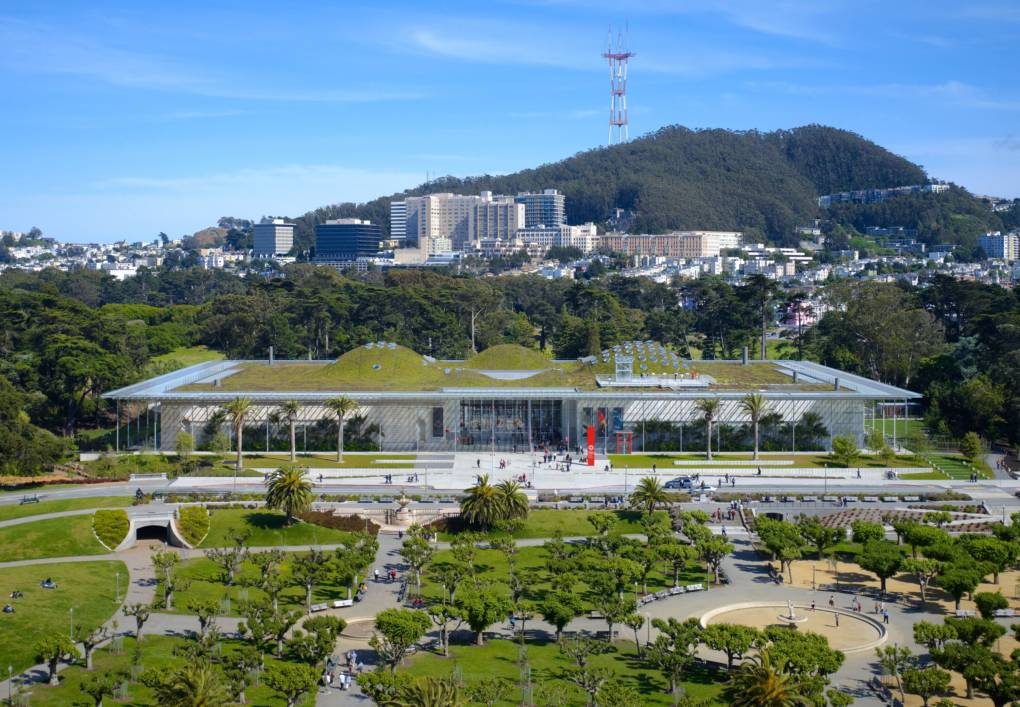 External view of California Academy of Sciences building