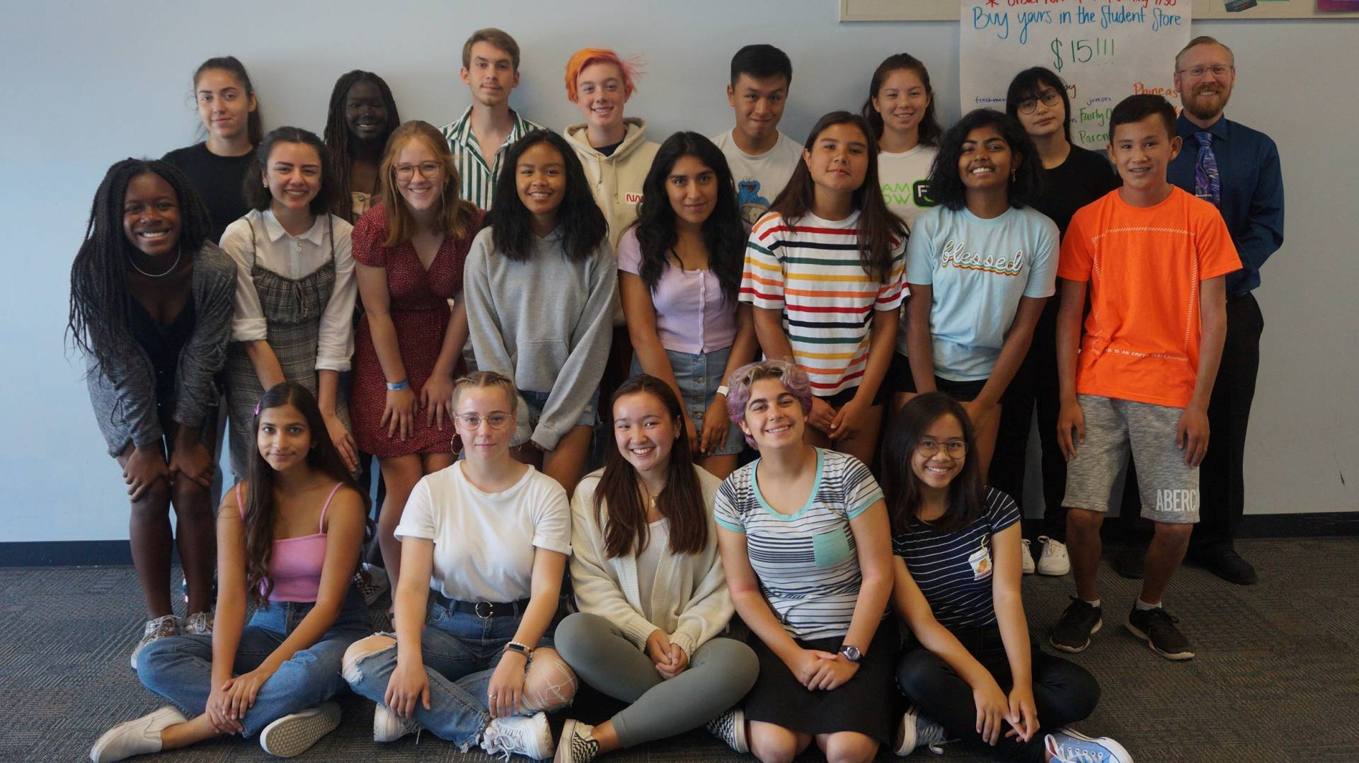 The Santa Clara High School journalism class of 2019-2020, participants in the Youth Takeover 2020. Courtesy of Bob Ansaldo