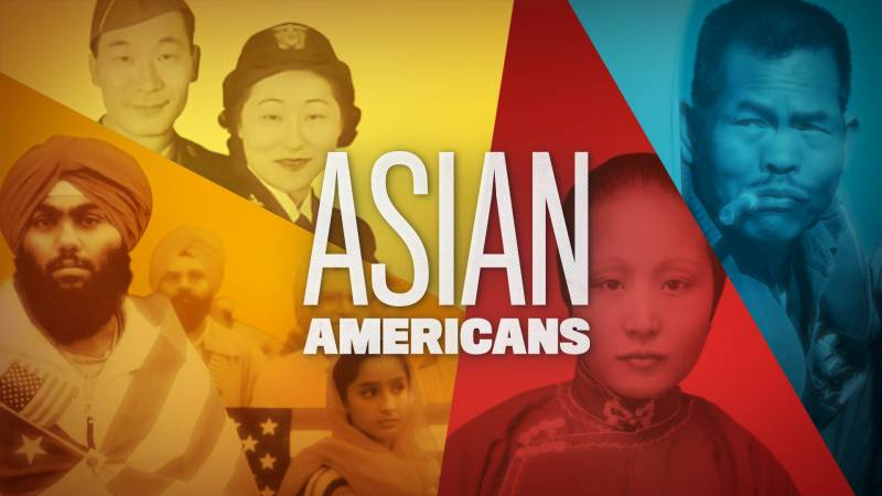 Collage of different Asian American figures