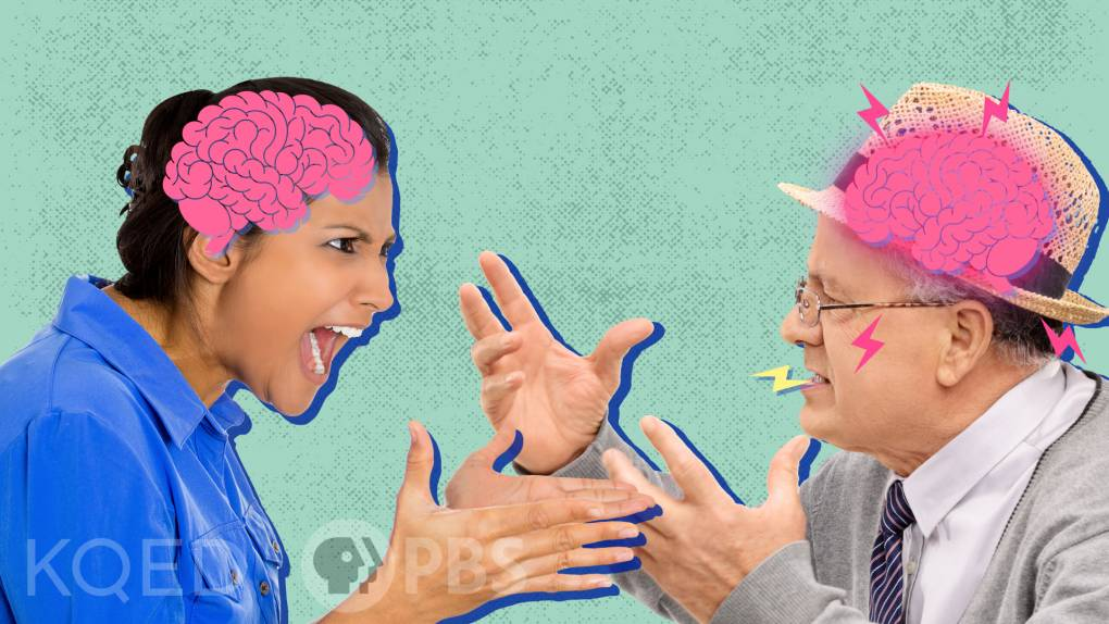 Thumbnail image of two people arguing with drawings of brains inside their heads