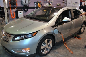 The 2011 Chevy Volt at the 2010 Plug-In Conference.