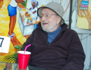 Writer Irwin Silber appeared in a QUEST TV segment on Alzheimer's.  We filmed him having lunch at a Brazilian restaurant in Berkeley in Nov. 2007.