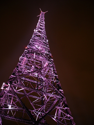 Gliwice Radio Tower at Night