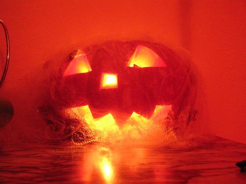 Halloween Pumpkin Burning lamp helloween candle candela