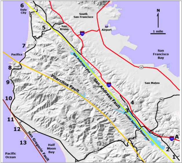 Map Of San Andreas Fault Bay Area Tidal Treasures - San andreas fault map bay area