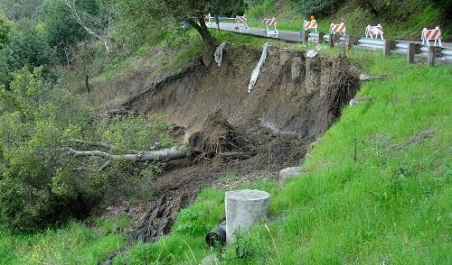 roadside landslide
