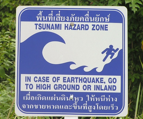 thai tsunami sign
