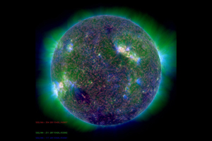 SDO extreme ultraviolet composite image of Sun
