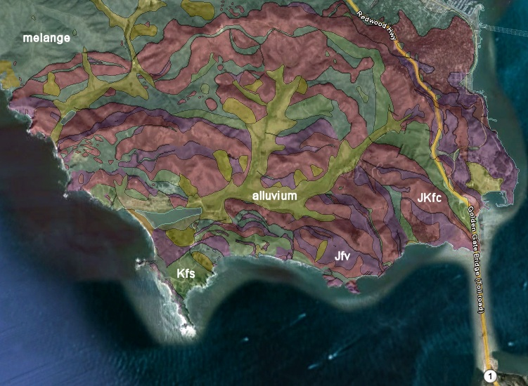 marin headlands geologic map