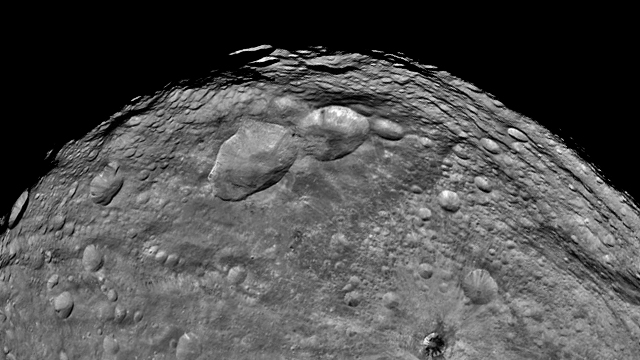 Vesta, image from NASA's Dawn spacecraft