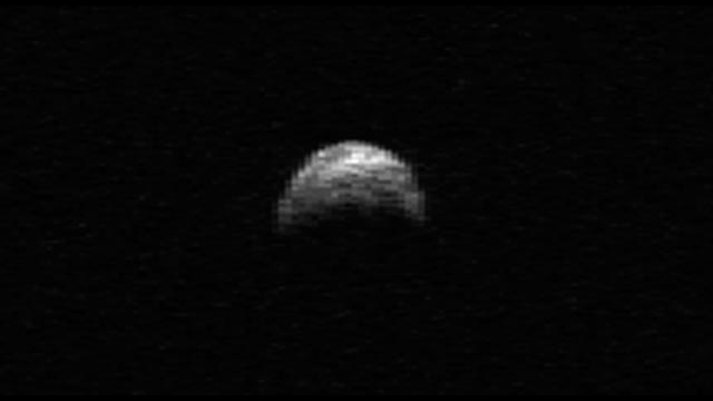 Asteroid 2005 YU55 - Radar image taken in 2010 - Credit NASA/Cornell/Arecibo